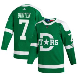 Neal Broten Dallas Stars Men's Adidas Authentic Green 2020 Winter Classic Jersey