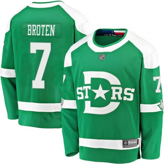 Neal Broten Dallas Stars Men's Fanatics Branded Green 2020 Winter Classic Breakaway Jersey