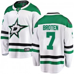 Neal Broten Dallas Stars Men's Fanatics Branded White Breakaway Away Jersey