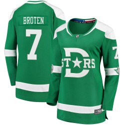 Neal Broten Dallas Stars Women's Fanatics Branded Green 2020 Winter Classic Breakaway Jersey