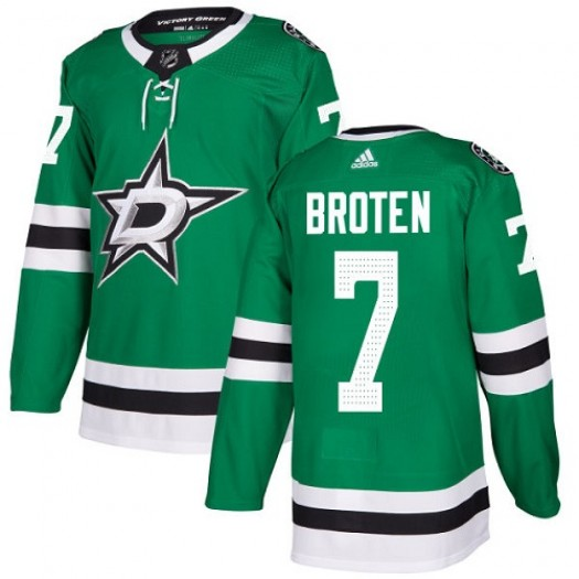 Neal Broten Dallas Stars Youth Adidas Authentic Green Home Jersey