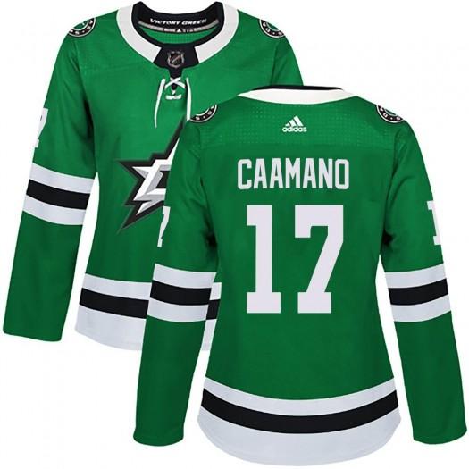 Nick Caamano Dallas Stars Women's Adidas Authentic Green Home Jersey