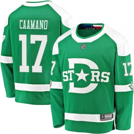 Nick Caamano Dallas Stars Youth Fanatics Branded Green 2020 Winter Classic Breakaway Player Jersey