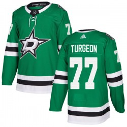 Pierre Turgeon Dallas Stars Men's Adidas Authentic Green Home Jersey