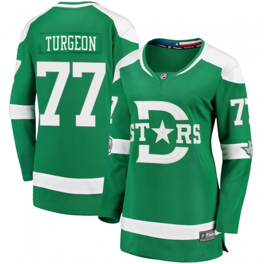 Pierre Turgeon Dallas Stars Women's Fanatics Branded Green 2020 Winter Classic Breakaway Jersey