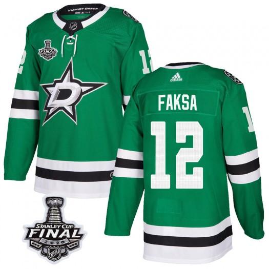 Radek Faksa Dallas Stars Men's Adidas Authentic Green Home 2020 Stanley Cup Final Bound Jersey