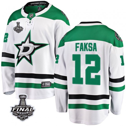 Radek Faksa Dallas Stars Men's Fanatics Branded White Breakaway Away 2020 Stanley Cup Final Bound Jersey