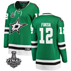 Radek Faksa Dallas Stars Women's Fanatics Branded Green Breakaway Home 2020 Stanley Cup Final Bound Jersey