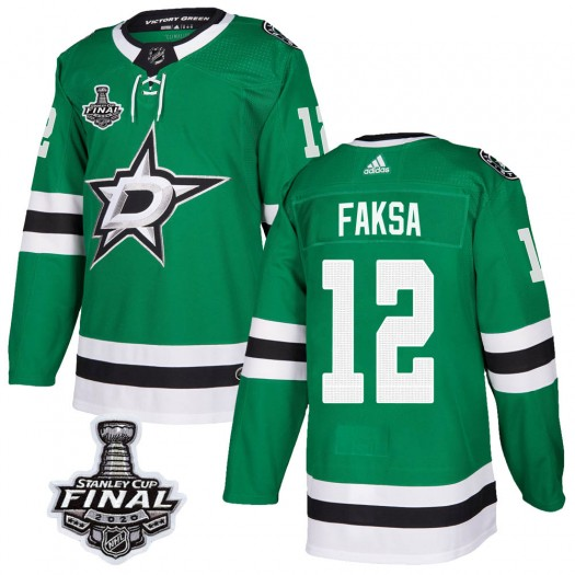Radek Faksa Dallas Stars Youth Adidas Authentic Green Home 2020 Stanley Cup Final Bound Jersey
