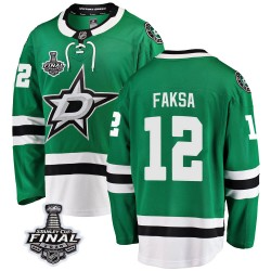 Radek Faksa Dallas Stars Youth Fanatics Branded Green Breakaway Home 2020 Stanley Cup Final Bound Jersey