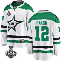 Radek Faksa Dallas Stars Youth Fanatics Branded White Breakaway Away 2020 Stanley Cup Final Bound Jersey
