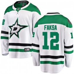 Radek Faksa Dallas Stars Youth Fanatics Branded White Breakaway Away Jersey