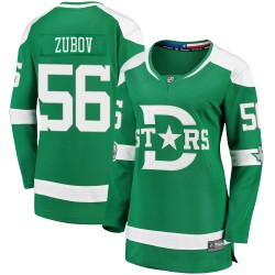 Sergei Zubov Dallas Stars Women's Fanatics Branded Green 2020 Winter Classic Breakaway Jersey