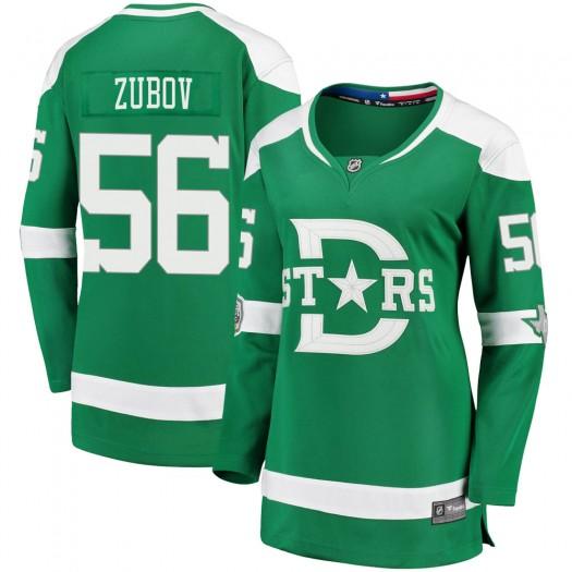 Sergei Zubov Dallas Stars Women's Fanatics Branded Green 2020 Winter Classic Breakaway Jersey