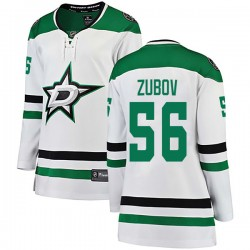 Sergei Zubov Dallas Stars Women's Fanatics Branded White Breakaway Away Jersey