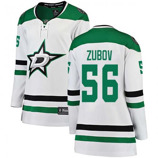 Sergei Zubov Dallas Stars Women's Fanatics Branded White Breakaway Away Jersey
