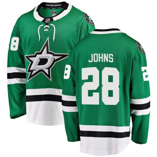 Stephen Johns Dallas Stars Men's Fanatics Branded Green Breakaway Home Jersey
