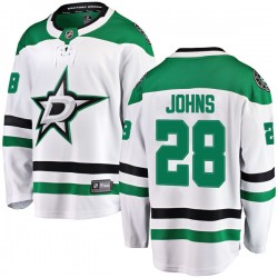 Stephen Johns Dallas Stars Men's Fanatics Branded White Breakaway Away Jersey