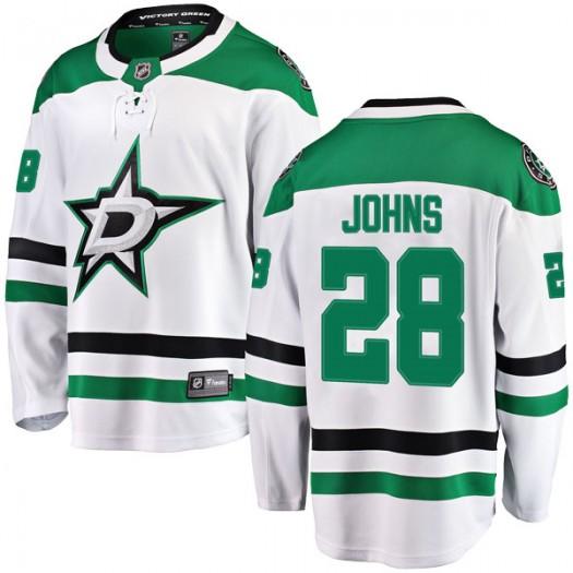 Stephen Johns Dallas Stars Men's Fanatics Branded White Breakaway Away Jersey