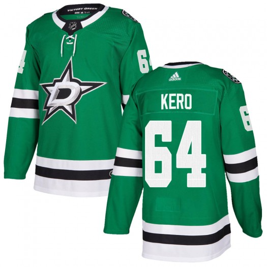Tanner Kero Dallas Stars Men's Adidas Authentic Green Home Jersey