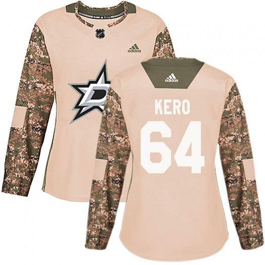 Tanner Kero Dallas Stars Women's Adidas Authentic Camo Veterans Day Practice Jersey