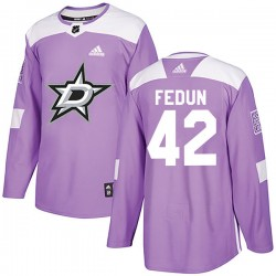 Taylor Fedun Dallas Stars Youth Adidas Authentic Purple Fights Cancer Practice Jersey