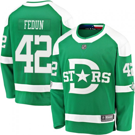 Taylor Fedun Dallas Stars Youth Fanatics Branded Green 2020 Winter Classic Breakaway Jersey