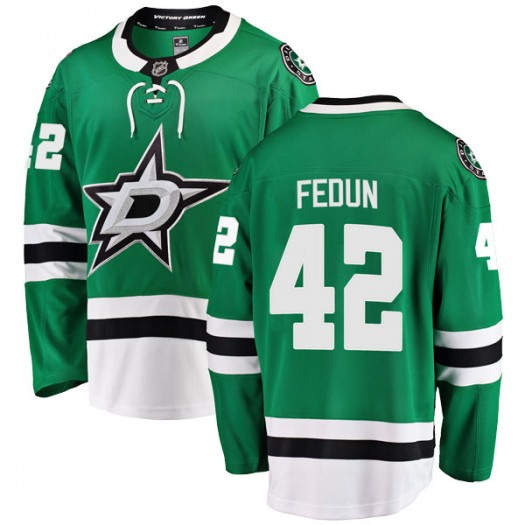 Taylor Fedun Dallas Stars Youth Fanatics Branded Green Breakaway Home Jersey