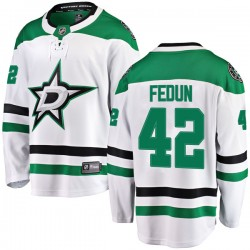 Taylor Fedun Dallas Stars Youth Fanatics Branded White Breakaway Away Jersey