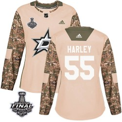 Thomas Harley Dallas Stars Women's Adidas Authentic Camo Veterans Day Practice 2020 Stanley Cup Final Bound Jersey
