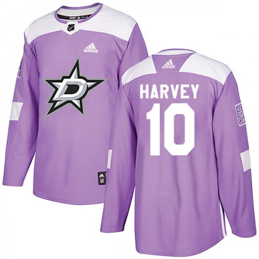 Todd Harvey Dallas Stars Youth Adidas Authentic Purple Fights Cancer Practice Jersey