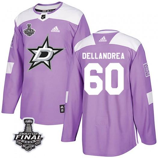 Ty Dellandrea Dallas Stars Men's Adidas Authentic Purple Fights Cancer Practice 2020 Stanley Cup Final Bound Jersey