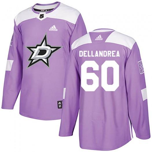 Ty Dellandrea Dallas Stars Men's Adidas Authentic Purple ized Fights Cancer Practice Jersey