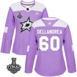 Ty Dellandrea Dallas Stars Women's Adidas Authentic Purple Fights Cancer Practice 2020 Stanley Cup Final Bound Jersey