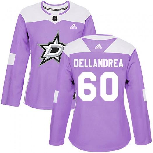Ty Dellandrea Dallas Stars Women's Adidas Authentic Purple ized Fights Cancer Practice Jersey