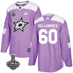 Ty Dellandrea Dallas Stars Youth Adidas Authentic Purple Fights Cancer Practice 2020 Stanley Cup Final Bound Jersey