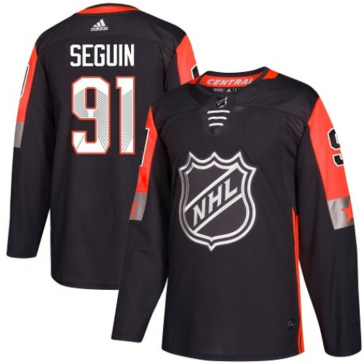 Tyler Seguin Dallas Stars Men's Adidas Authentic Black 2018 All-Star Central Division Jersey