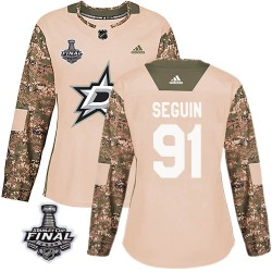 Tyler Seguin Dallas Stars Women's Adidas Authentic Camo Veterans Day Practice 2020 Stanley Cup Final Bound Jersey