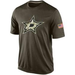 Dallas Stars Men's Nike Olive Salute To Service KO Performance Dri-FIT T-Shirt
