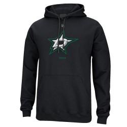 Dallas Stars Men's Reebok Black Primary Logo Pullover Hoodie