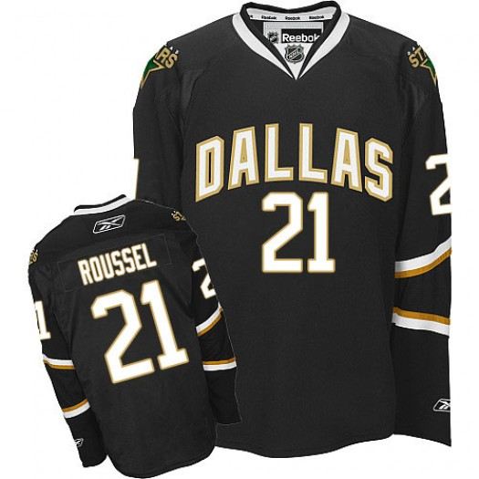 Antoine Roussel Dallas Stars Men's Reebok Authentic Black Jersey