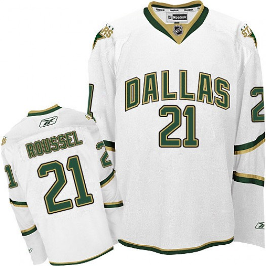 Antoine Roussel Dallas Stars Men's Reebok Authentic White Third Jersey