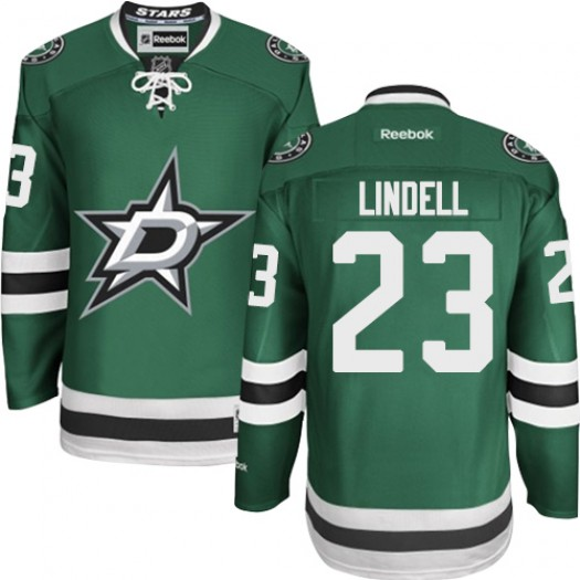 Esa Lindell Dallas Stars Men's Reebok Authentic Green Home Jersey