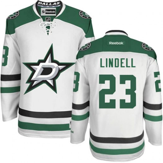 Esa Lindell Dallas Stars Men's Reebok Authentic White Away Jersey