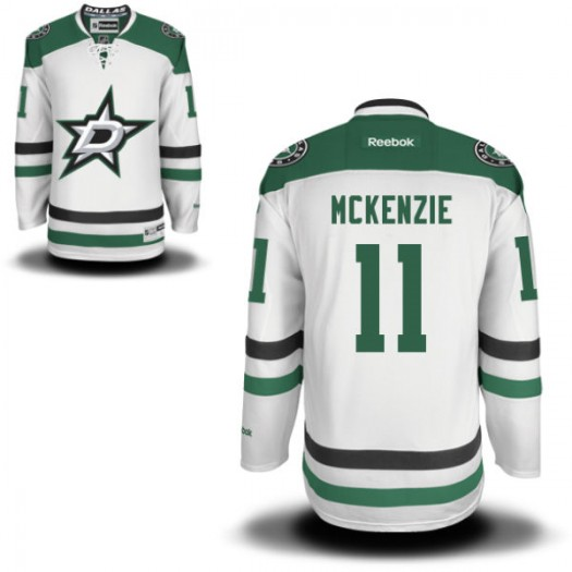 Curtis Mckenzie Dallas Stars Men's Reebok Replica White Away Jersey