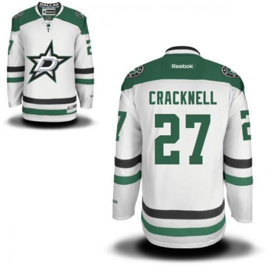 Adam Cracknell Dallas Stars Youth Reebok Premier White Away Jersey