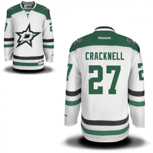 Adam Cracknell Dallas Stars Youth Reebok Authentic White Away Jersey