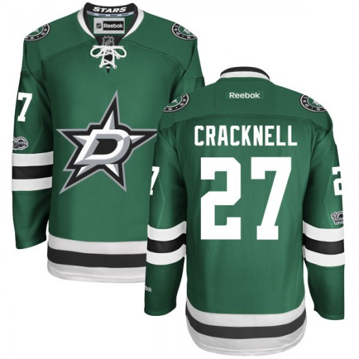 Adam Cracknell Dallas Stars Youth Reebok Authentic Green Home Centennial Patch Jersey