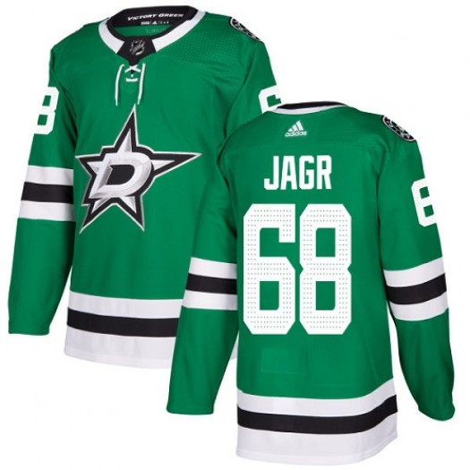 Jaromir Jagr Dallas Stars Youth Adidas Authentic Green Home Jersey